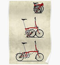 I Love My Folding Brompton Bike Poster