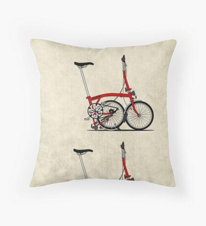 I Love My Folding Brompton Bike Throw Pillow
