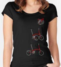I Love My Folding Brompton Bike Women's Fitted Scoop T-Shirt