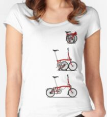 I Love My Folding Brompton Bike Women's Fitted Scoop T-Shirt