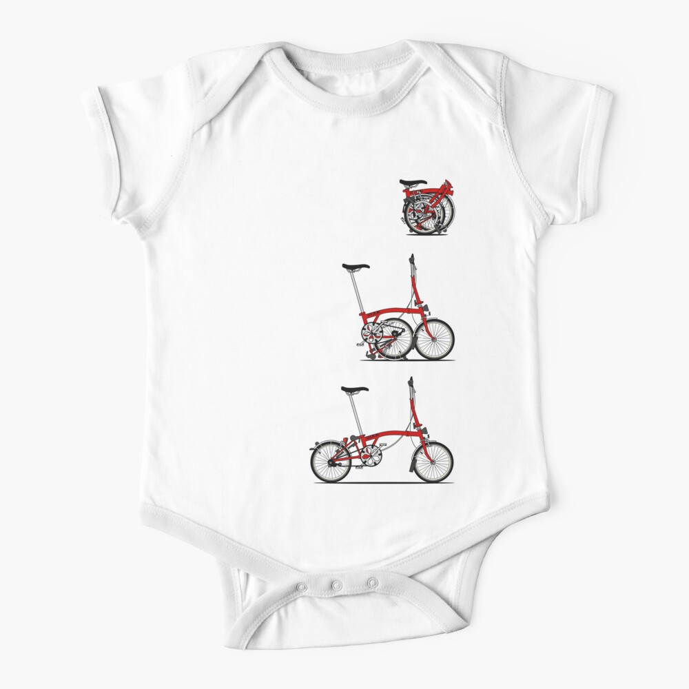 I Love My Folding Brompton Bike Baby One-Piece