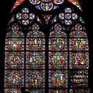 Stained glass window, Notre Dame, Paris by Jenny Setchell