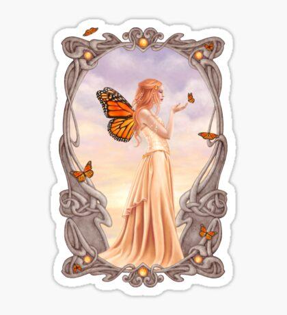Citrine Birthstone Fairy Sticker
