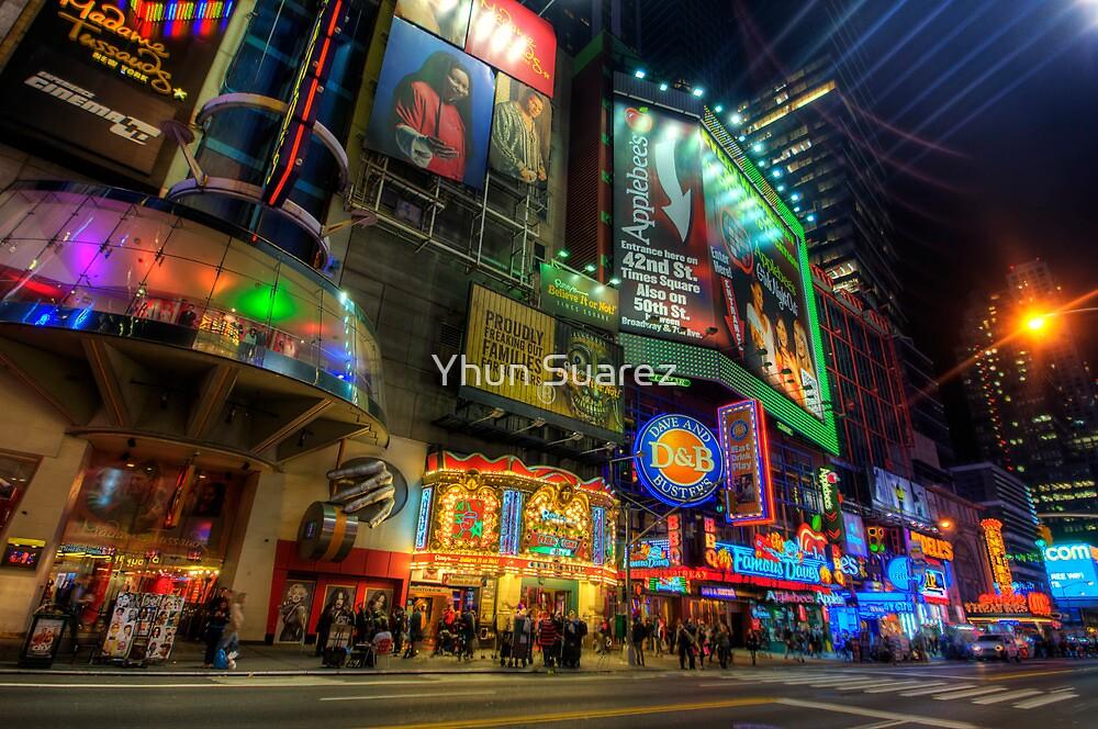 42nd Street NYC by Yhun Suarez