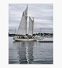 White Sails in the Stormset Photographic Print
