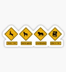Danger Ahead Sticker