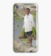 Planting Rice in Rural Laos iPhone Case/Skin