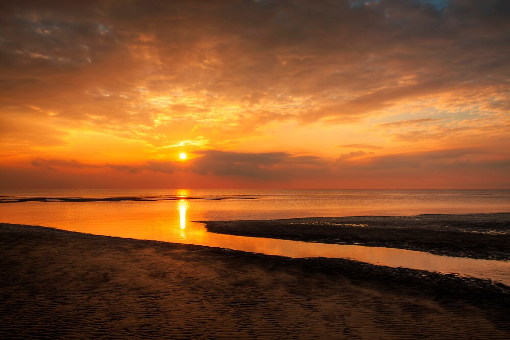 Sunset at Ainsdale Beach by Roger Green
