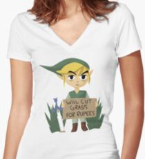 Looking For Work - Legend of Zelda Women's Fitted V-Neck T-Shirt