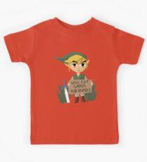 Looking For Work - Legend of Zelda Kids Tee