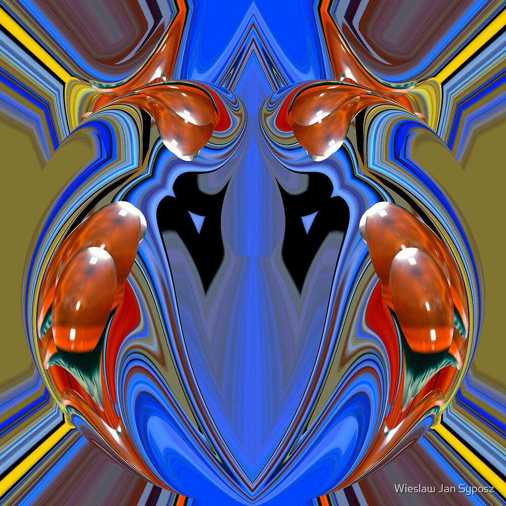 blue alien heart by Wieslaw Jan Syposz