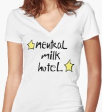 Neutral Milk Hotel (Everything Is) Women's Fitted V-Neck T-Shirt