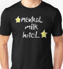 Neutral Milk Hotel (Everything Is) - White on Black Version Slim Fit T-Shirt