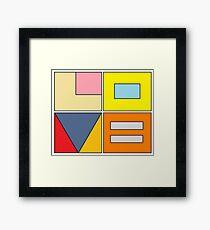 love blocks Framed Print