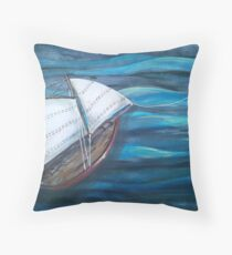 SAILBOAT DREAMS Throw Pillow