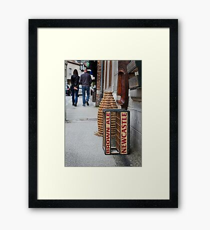 Newcastle Brown Ale Crate Framed Print