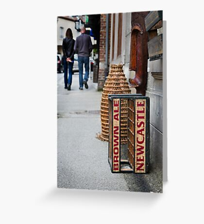 Newcastle Brown Ale Crate Greeting Card