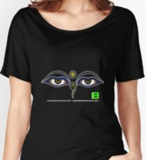 Crunk Eco Wear | Be Green Records Merch | Buddha Eyes 11 Women's Relaxed Fit T-Shirt