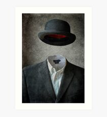 Invisable Man Art Print