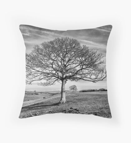 Skeletal Tree Throw Pillow