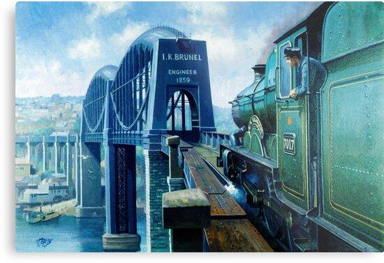 Brunel's Saltash bridge. by Mike Jeffries