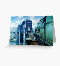 Brunel's Saltash bridge. Greeting Card