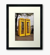 Telephone Yellow! Framed Print