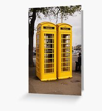 Telephone Yellow! Greeting Card