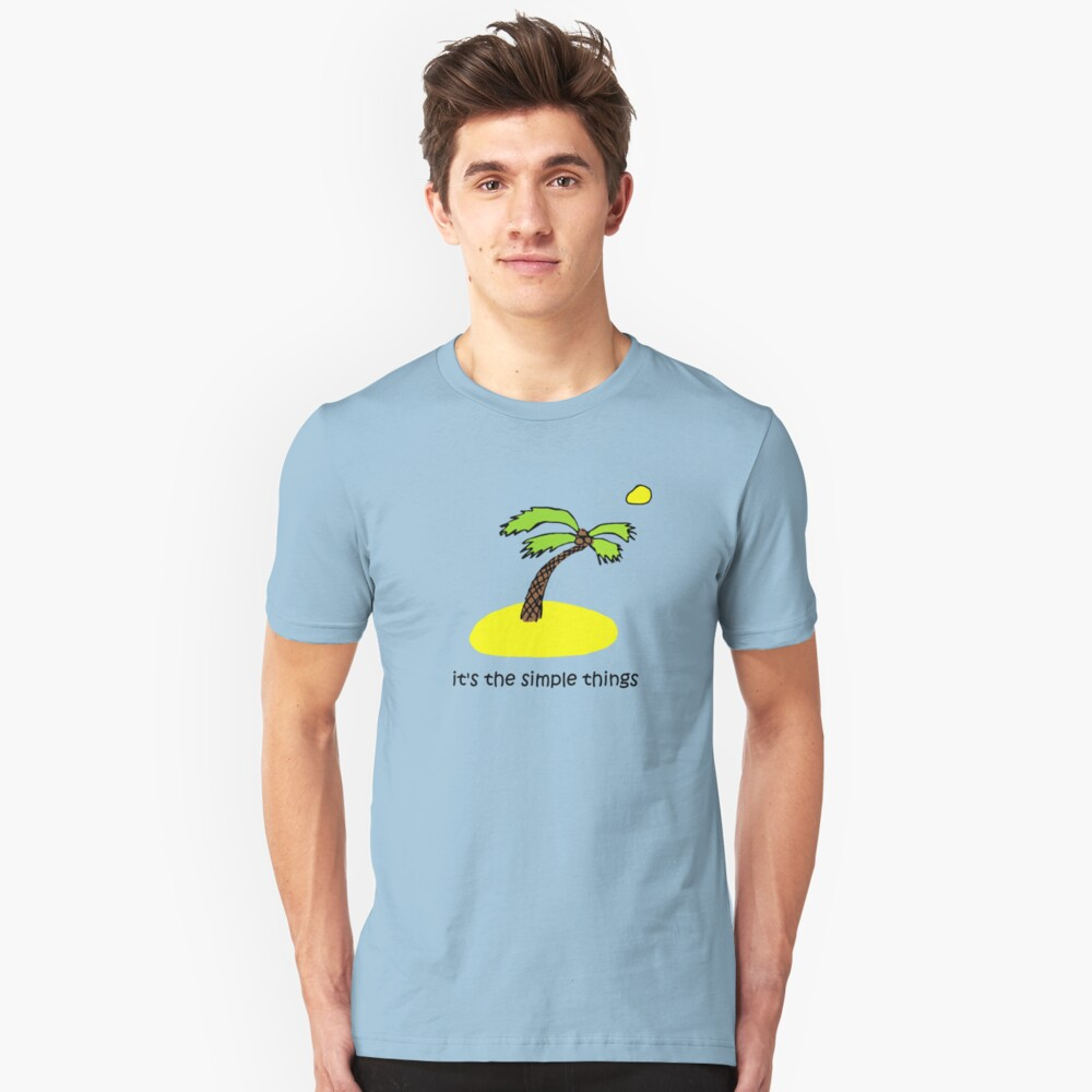 Simple Things - Island Unisex T-Shirt Front