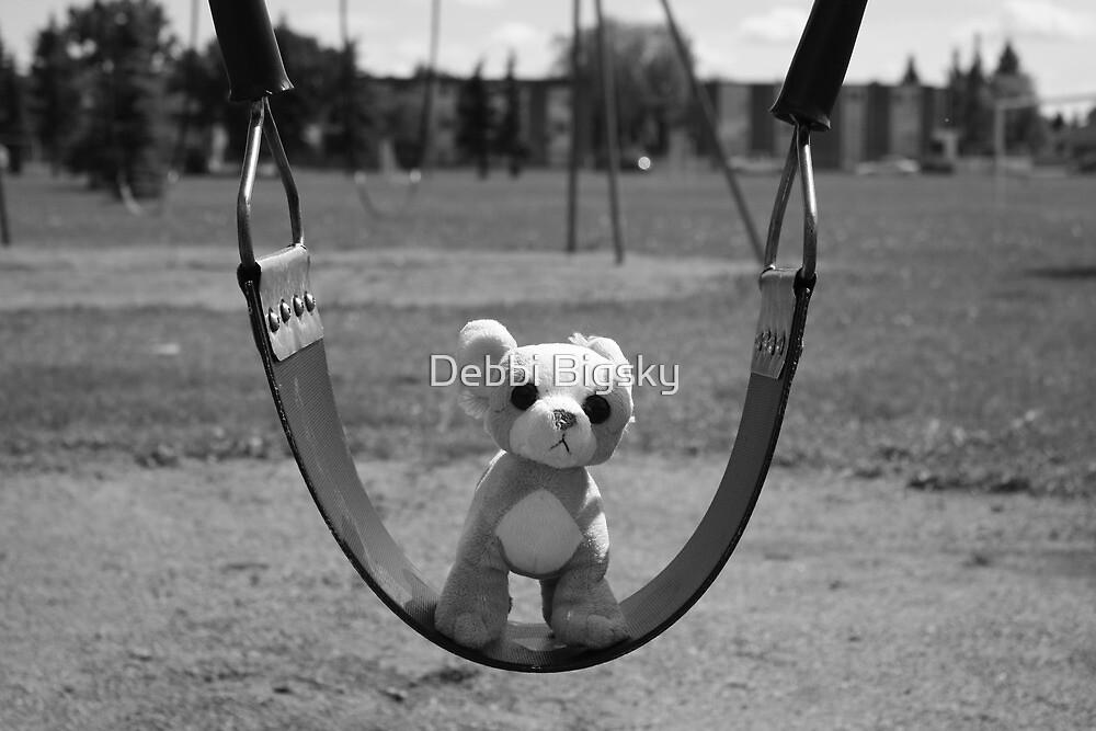 Dog on Swing by Debbi Bigsky