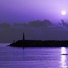 Rising sun in purple by Mark Bunning
