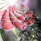 Carnation Abstract by Greta  McLaughlin