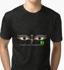 Crunk Eco Wear | Be Green Records Merch | Buddha Eyes 33 Tri-blend T-Shirt