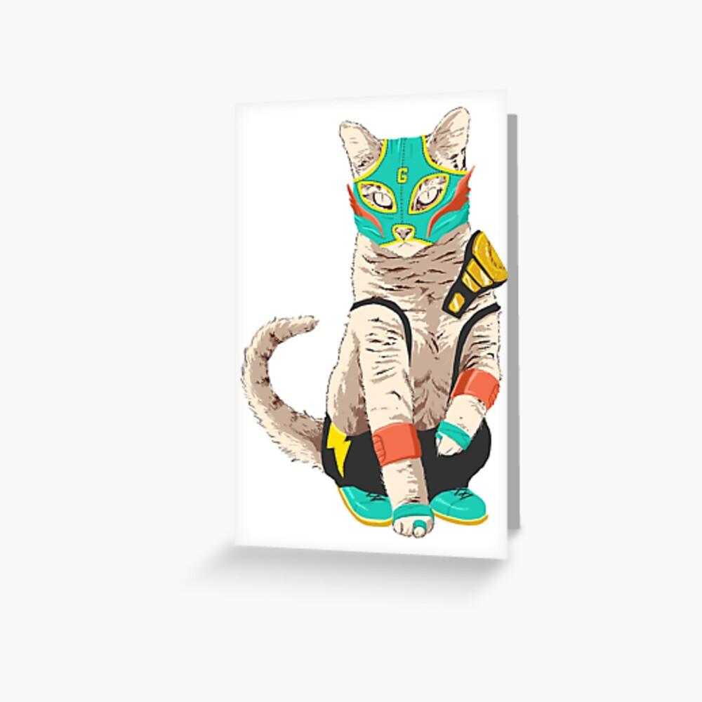El Gato Asesino Greeting Card