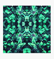 Abstract Surreal Chaos theory in Modern poison turquoise green Photographic Print
