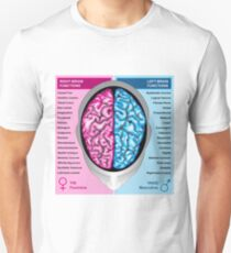 Human brain left and right functions vector Unisex T-Shirt