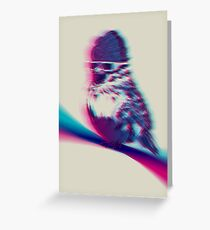 Bird Hair Day Greeting Card