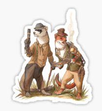 Steampunk Weasels Sticker
