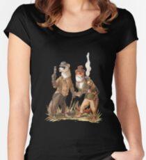 Steampunk Weasels Women's Fitted Scoop T-Shirt