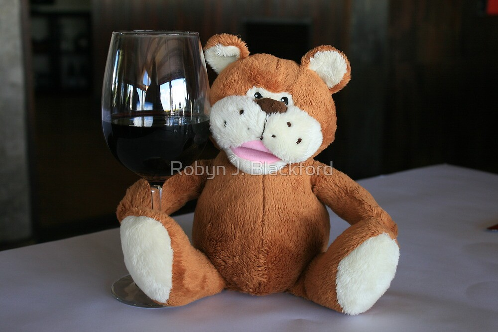Chuckles & a Glass of Red by aussiebushstick