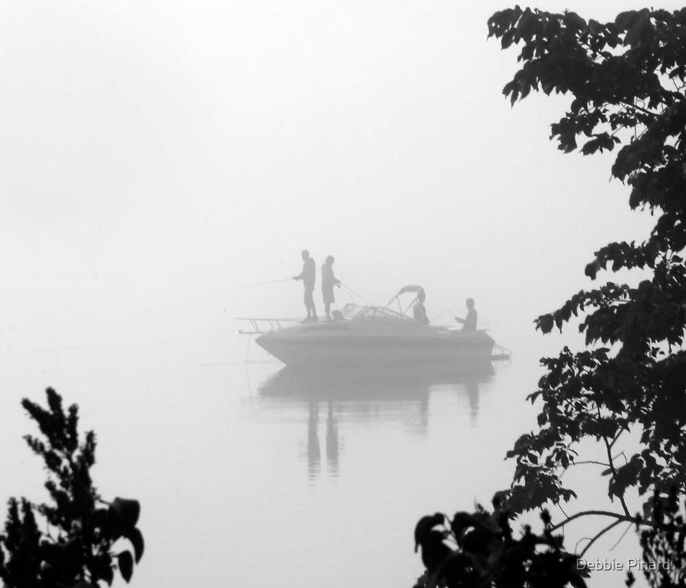 Fishing in the Fog, Ottawa River by Debbie Pinard