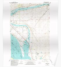 USGS Topo Map Washington State WA Humorist 241602 1992 24000 Poster