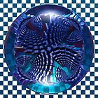 Quad Spiral Through A Lens by Hugh Fathers