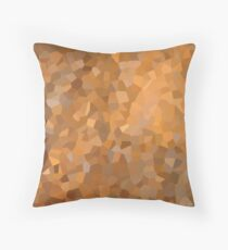 Gold Geometric Abstract Art Pattern  Throw Pillow