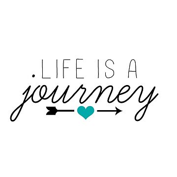 Life is a journey teal de ArtByKE