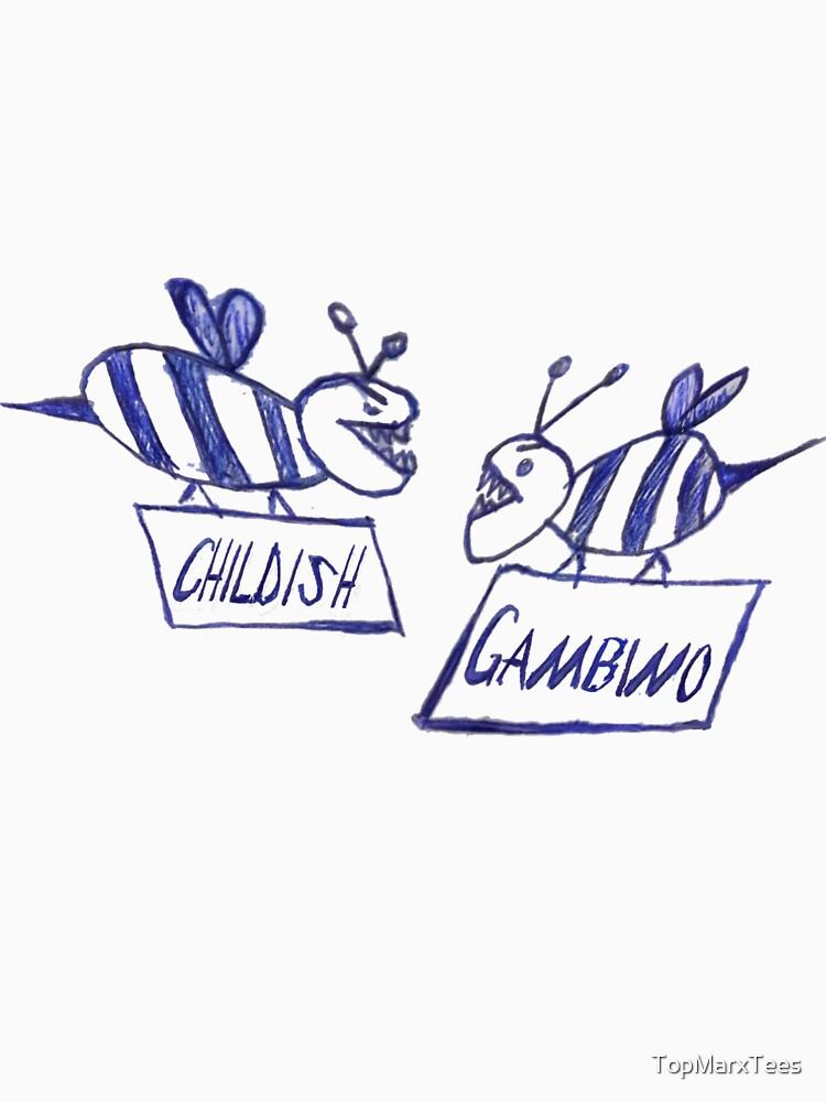 Community Gambino (white) by TopMarxTees