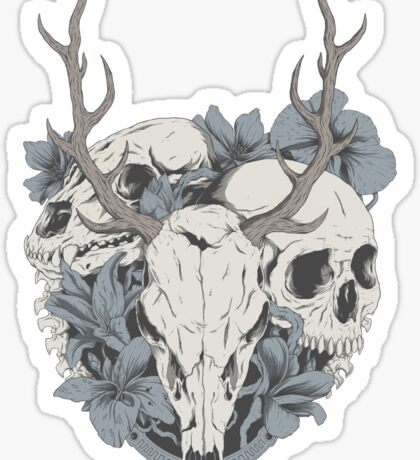 Skulls & flowers Sticker