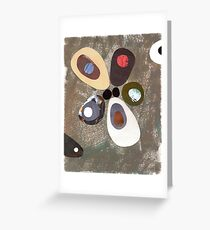 Eames era mid century design abstract Greeting Card