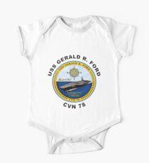 USS Gerald R. Ford (CVN-78) Crest One Piece - Short Sleeve