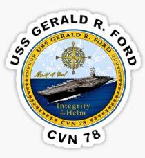 USS Gerald R Ford CVN 78 Crest Sticker